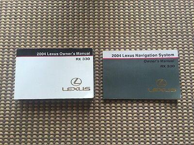 2004 LEXUS rx330 OWNERS MANUAL 04 SET RX 330 W//CASE