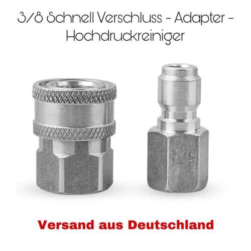 """2tlg 3//8""""Schnellverschluss Adapter Stecker Kupplung Für Hochdruckreiniger"""