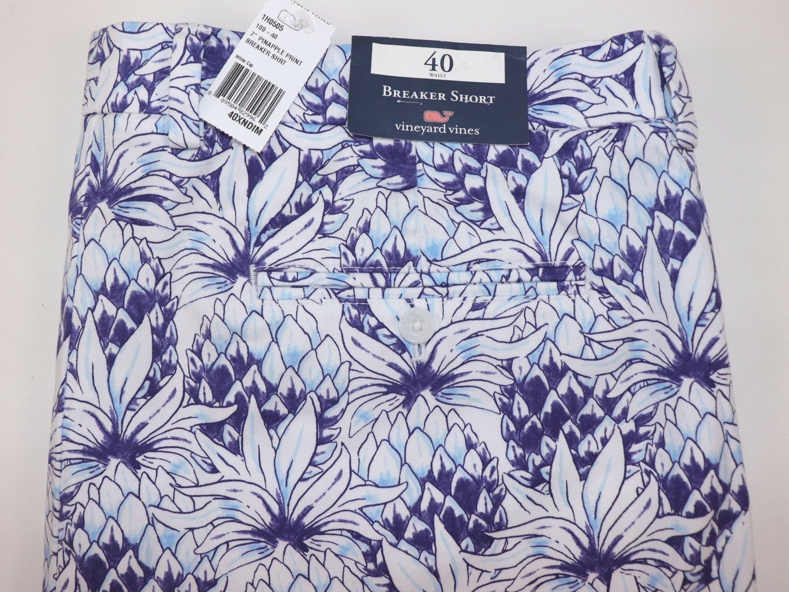 NWT VINEYARD VINES 40 Men's Flat Front Multi-color Pineapple Print BREAKER Short