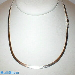 """Sterling Silver 3.3mm HERRINGBONE Chain Necklace 18/"""""""