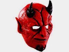 Halloween Teufelsmaske mit beweglichem Mund und Hörnern Helloween Maske Party