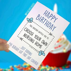 Image Is Loading Funny Happy Birthday Card Uncle Boyfriend Dad Nursing