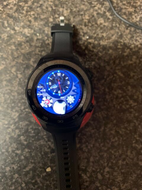Huawei GT 2 46 mm Noir fluoroélastomère Case Smart Watch - 55024316