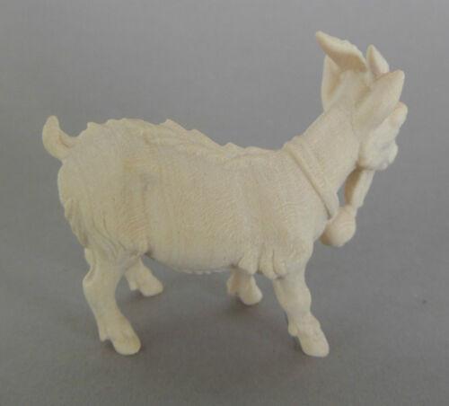 Ziege ca 2,7 cm hoch für Krippenfiguren Größe 9 cm Holz natur AM59 Zwergziege