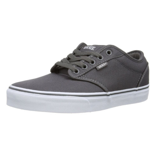 Skater Canvas Trainers Vans Plimsolls Mens Up Lace Atwood Grey Plain Shoes White trdQshCx