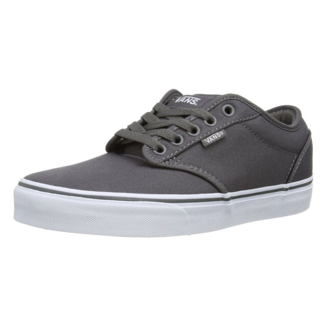 VANS Atwood Mens Canvas Skater Trainers Plain Shoes Lace Up