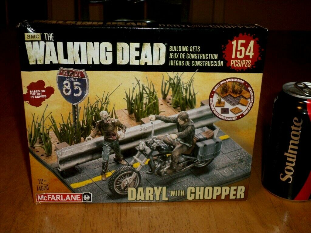 [AMC] THE WALKING DEAD- DARYL WITH WITH WITH CHOPPER, Plastic Model Building Set Kit, VINT 759119