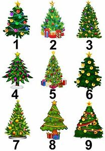 Christmas Tree Design Small Or Large Sticky White Paper