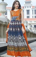 INDIAN DESIGNER SILK & COTTON DRESS MATERIAL WITH EMBROIDERY