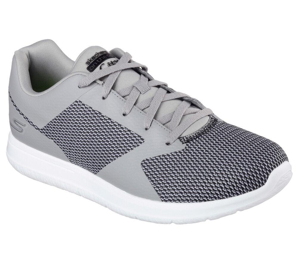 NEU SKECHERS Herren Sneakers Turnschuh Walking Schuh GO WBLK CITY - ECHO Grau