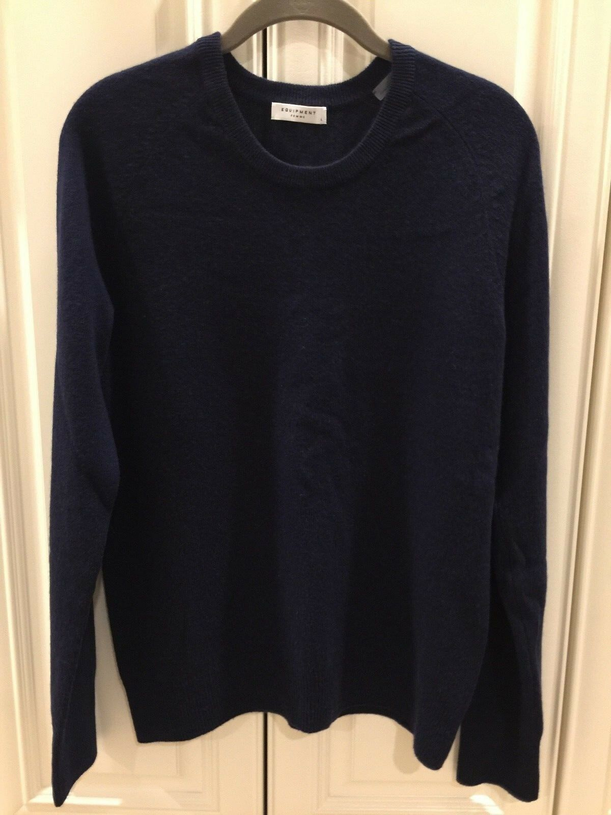 Equipment Sloan cashmere sweater - Bloomingdales - navy - size size size L - NWOT  268 ret 594515