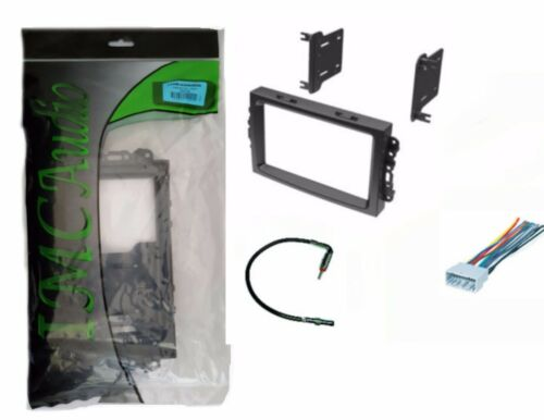 Chrysler Dodge Jeep Double Din Dash Kit for Radio Stereo Install Harness Antenna