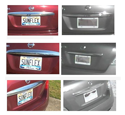 Sunflex License Plate frame ir infrared lights privacy invisible Blocker Cover