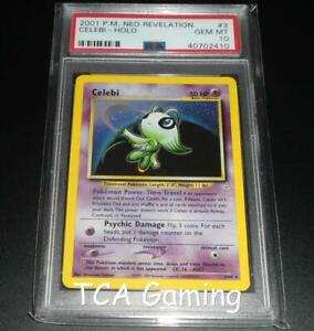 PSA-10-GEM-MINT-Celebi-3-64-Neo-Revelation-HOLO-RARE-Pokemon-Card