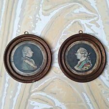Paire De Gravures XVIIIè ROI Louis XVI Joseph II Empereur d?Autriche Encadrées