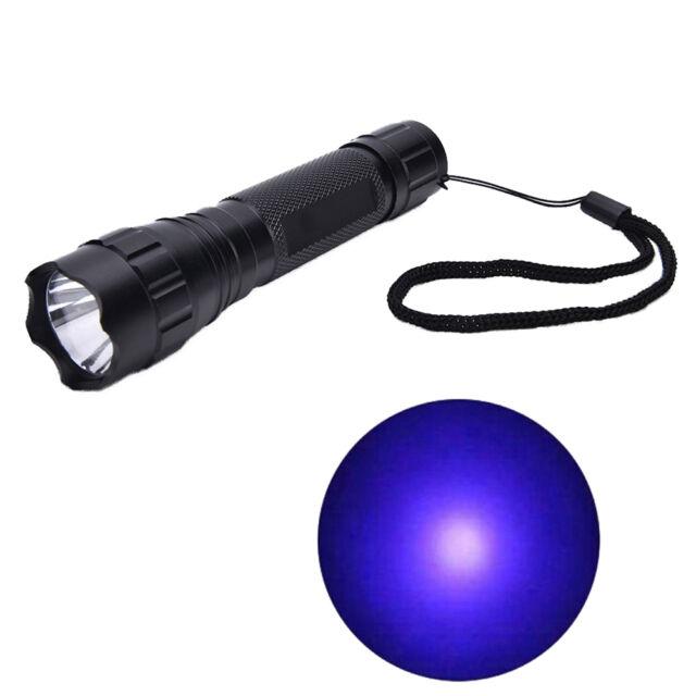 UV WF-501B LED 365NM Violette Blacklight Taschenlampe 18650  ^