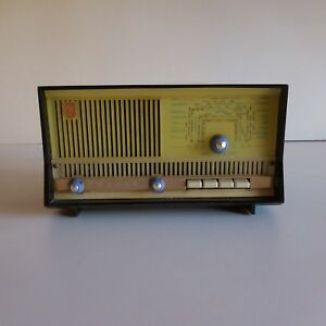 Poste-radio-bakelite-Philips-art-deco-1950-vintage-XXe-France