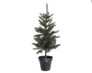 Image Is Loading 75cm Everlands Artificial Tabletop Christmas Tree In Plastic