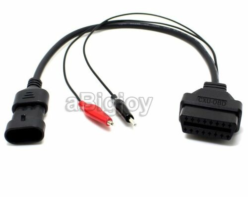OBD2 16Pin Convertor Adapter Cable for Fiat 3Pin Alfa Lancia Connector