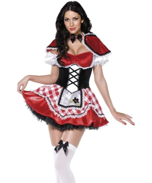 Sexy Halloween Adult Storybook Little Red Riding Hood Costume w Cape