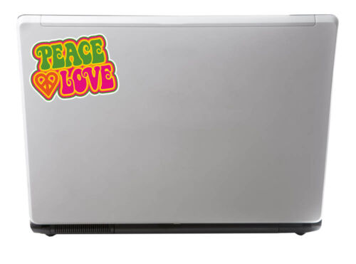 2 x 10cm Peace Love Sticker Decal Symbol Hippy VW Camper Beetle Fun Girls #6034