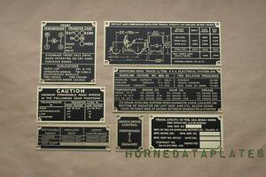 CRUSCOTTO metri PIASTRA meßlehrenplatte Steel per Mahindra /& Willys Jeep
