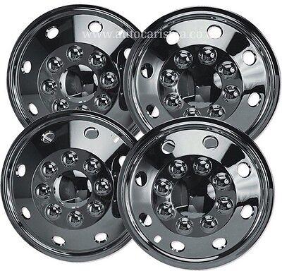 "16/"" VW Crafter LT Chrome Wheel Trims Motorhome American Style Hub Caps x 4"