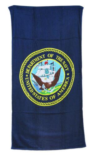 Cotton Twill US Navy Emblem Logo Beach Towel 30 x 60