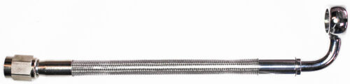"stainless steel braid hose AN-3   6/"" long ST X 90ø banjo 7//16/""  CC"