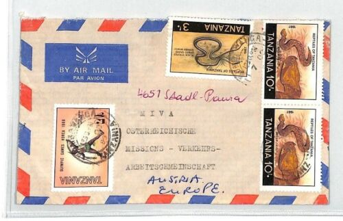 CA168 Tanzania Airmail Cover MISSIONARY VEHICLES PTS