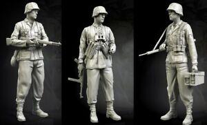 1-35-Resin-German-SS-3-Soldiers-unpainted-unassembled-BL981