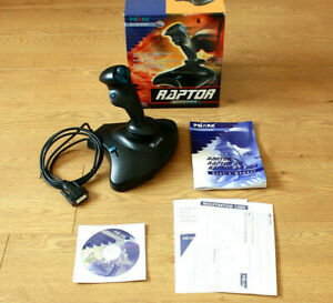 Primax-Raptor-JS61PX-Retro-PC-vuelo-Joystick-Controlador-15-Pin-Puerto-De-Juegos-En-Caja
