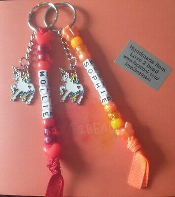 PERSONALISED KEY RING NAME TAG KIDS NEW TERM BACK TO SCHOOL NURSERY 1ST DAY