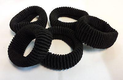 Herzhaft Elastic Hair Bands Black Color 7cm Pack Of 5 Die Neueste Mode