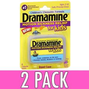 Dramamine Motion Sickness Relief for Kids Tablets 8ct 831248003016