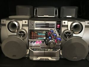 jvc hifi system 3 disc changer tape deck aux hi fi amp. Black Bedroom Furniture Sets. Home Design Ideas