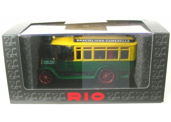Fiat 18 bl bus (green yellow) bracigliano - camarelle 1916