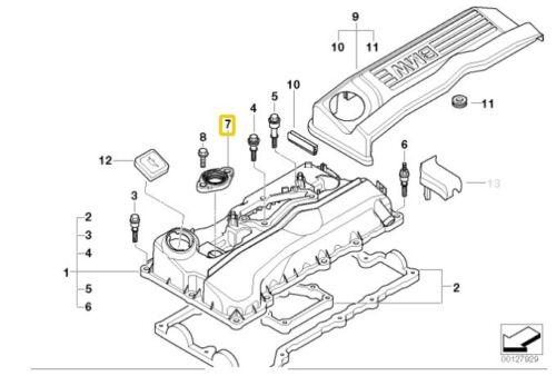 X3 Z4 Elring 458.320 Série 3 X1 Bride Joint reniflard Joint pour BMW 1