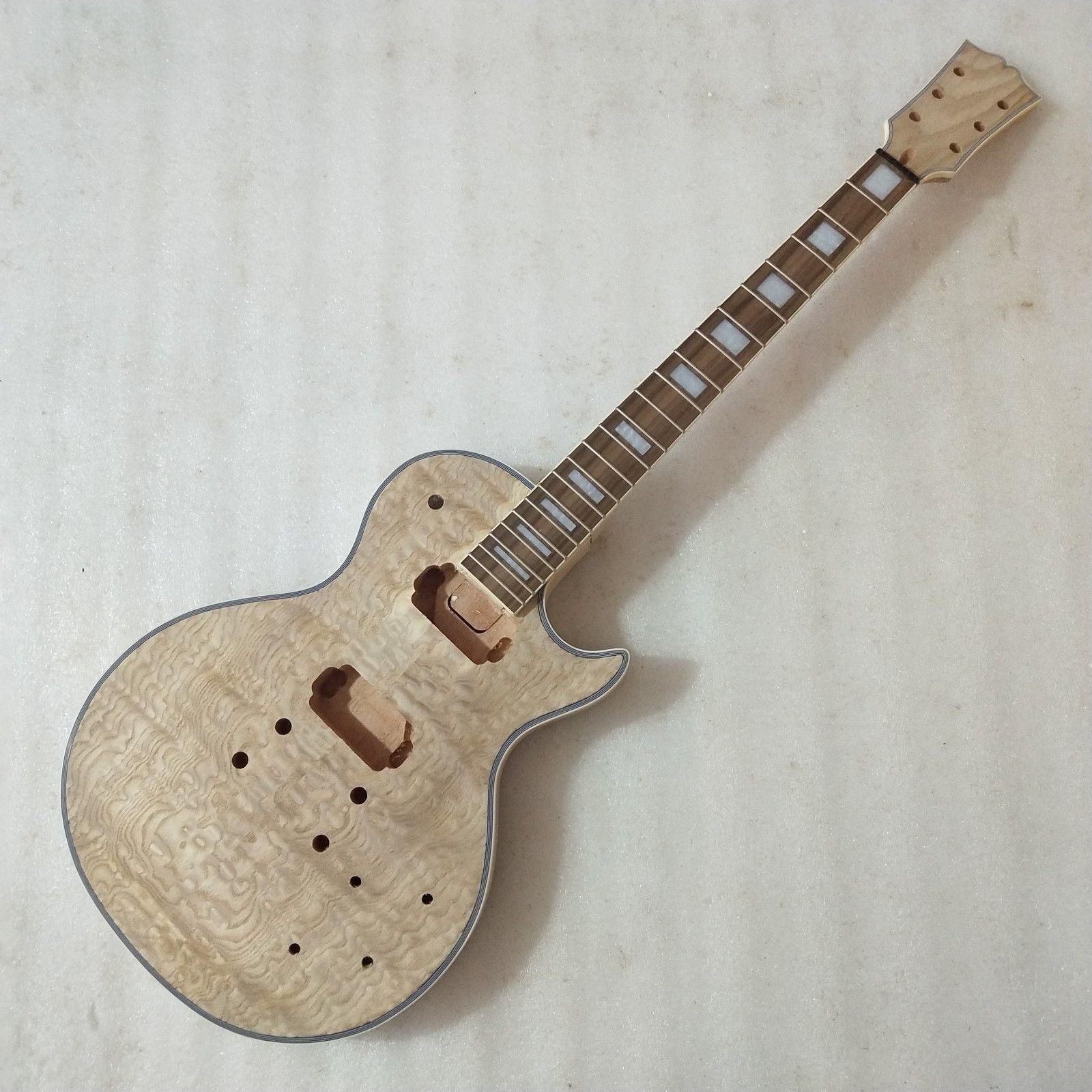 1 Satz Neue unvollendete E-Gitarre Hals und Körper für LP-Stil Gitarre