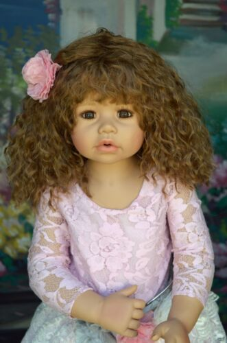 Masterpiece Dolls Cassi Light Brown Wig Fits Up To An 18-inch Head