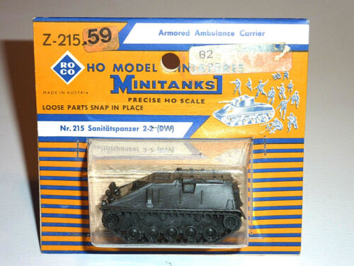 ROCO MINITANKS Z-215.59 SANITÄTSPANZER 2-2 BW GERMAN AMBULANCE CARRIER H0 NEU