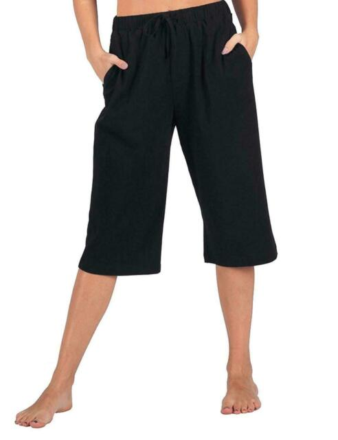 classic styles first look look out for LADIES 3/4 TROUSERS WOMENS THREE QUARTER ELASTICATED WAIST CAPRI CROPPED  PANTS