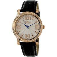 Invicta Women's Vintage 25752 Black Leather Watch