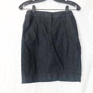 LOFT-Ann-Taylor-soft-black-denim-pencil-skirt-beltloops-side-back-pockets-2P