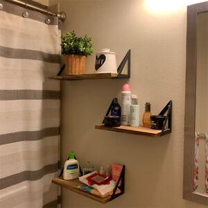 3PCS Assorted Size Floating Shelves Bedroom Office Wall Plant Pot Ornament Racks