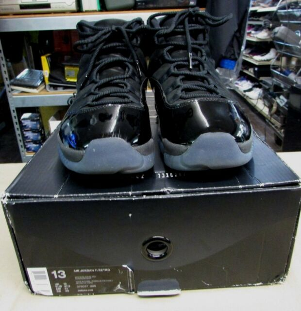 Air Jordan XI Retro 11 Cap and Gown Prom Night Triple Black 378037-005 Sz 13