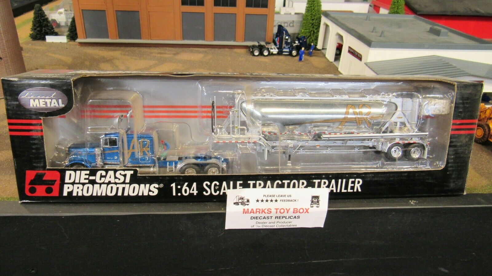 DCP 32405 a&r transport 379 Semi Cab Camion Pneumatique tanker trailer 1 64 CL