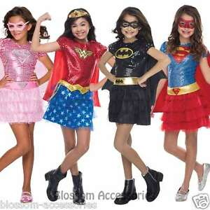 Image is loading CK509-Deluxe-Sequin-Superhero-Hero-Toddler-Girl-Fancy-  sc 1 st  eBay & CK509 Deluxe Sequin Superhero Hero Toddler Girl Fancy Dress Up Book ...