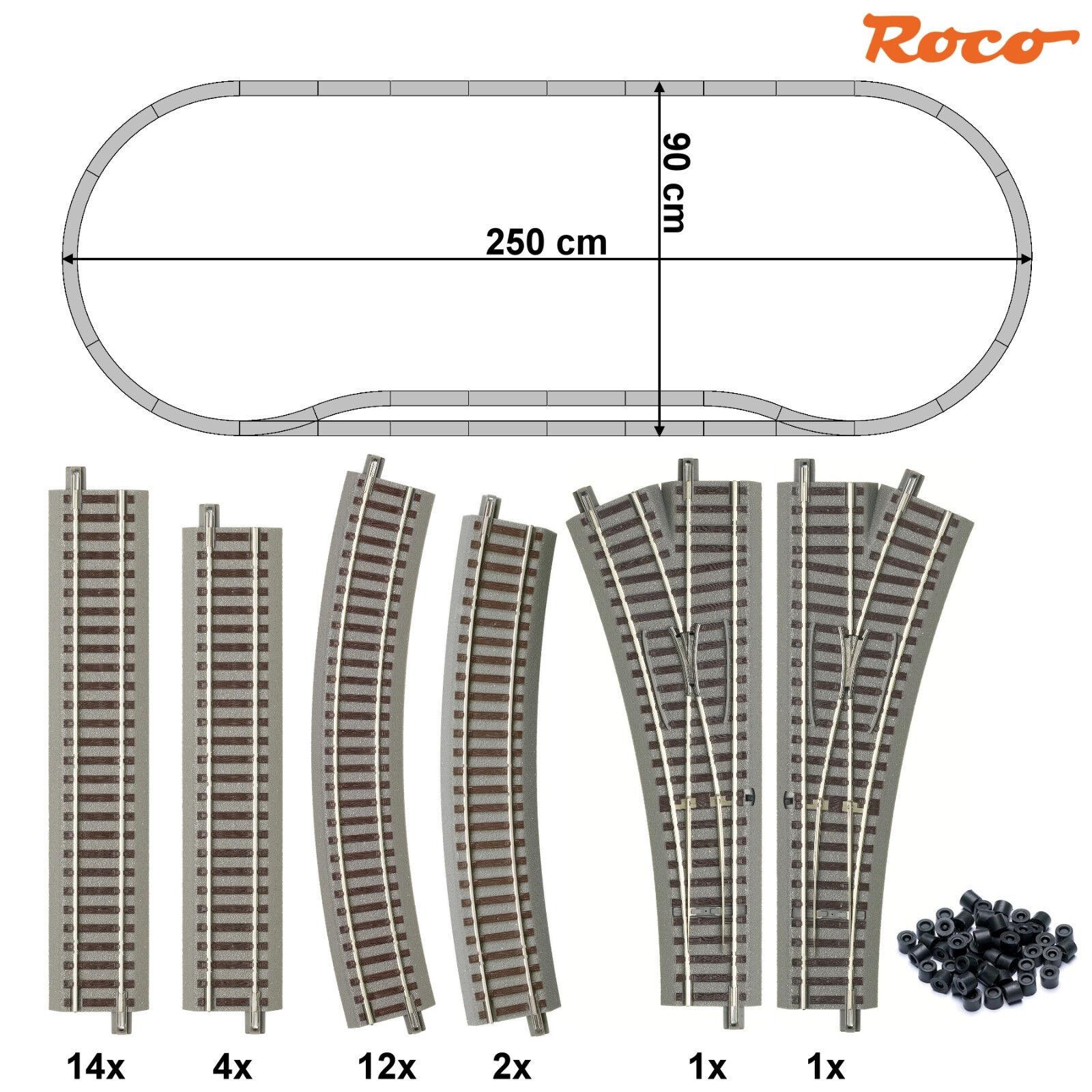 ROCO Binario 61151-s1 - Set 34 pezzi con 2 morbido + + Nuovo + +