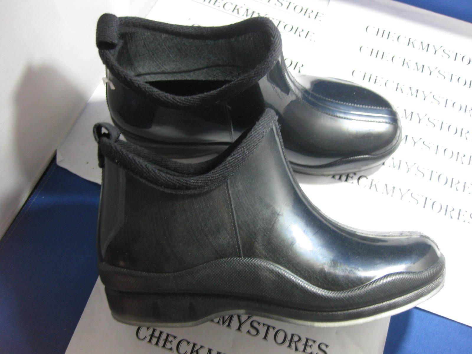 new NIB Capelli New York Shiny Black Ladies Slip-On Bootie Body Jelly Shoes sz 6